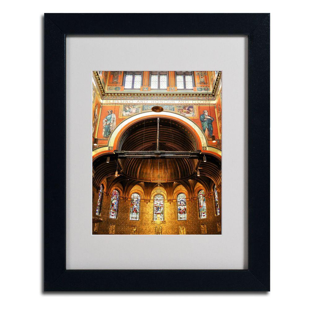 11 in. x 14 in. Trinity Church Matted Framed Art