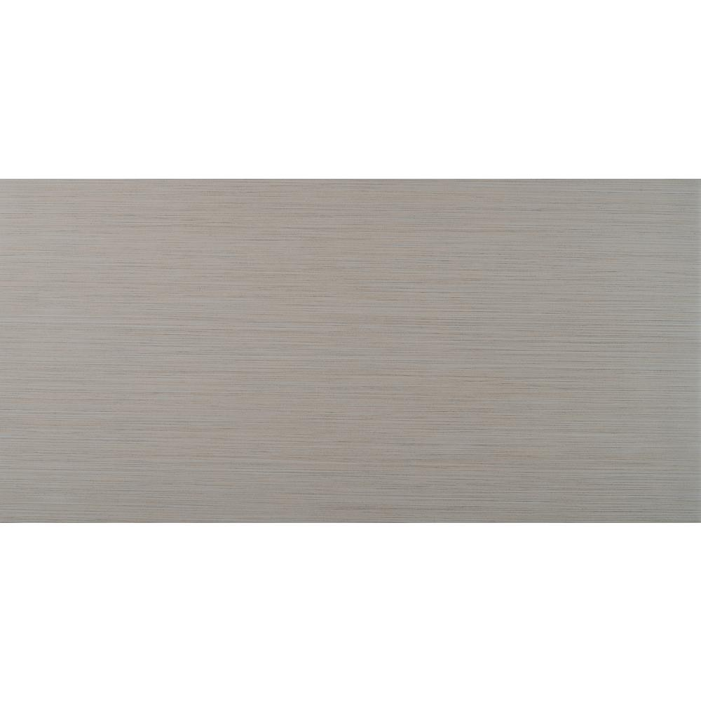 Metro Glacier 12 in. x 24 in. Glazed Porcelain Floor and