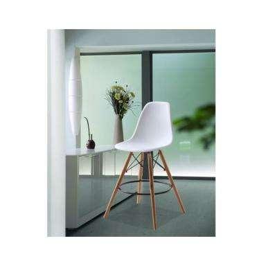47 in. White Woodleg Bar Chair