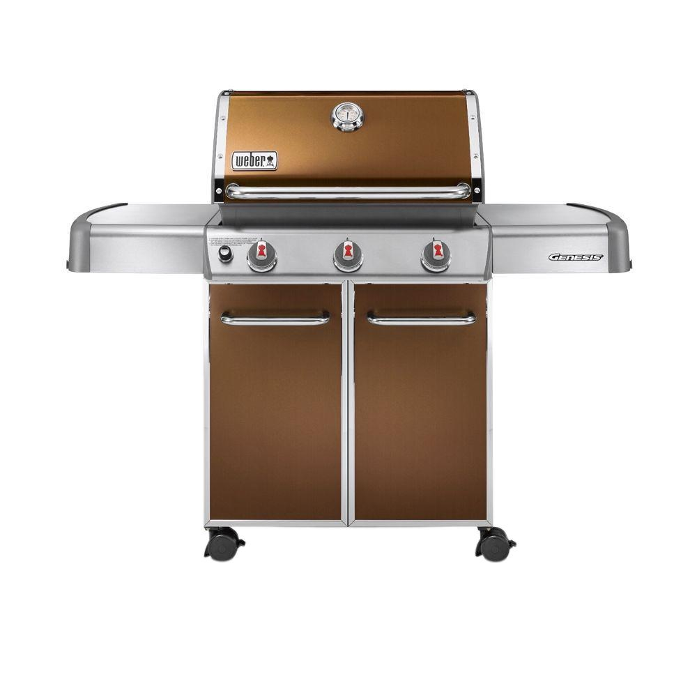 Weber Genesis E-310 3-Burner Propane Gas Grill in Copper