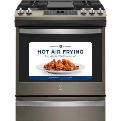 30 in. 5.6 cu. ft. Slide-In Gas Range with Self-Cleaning Convection Oven and Air Fry in Slate