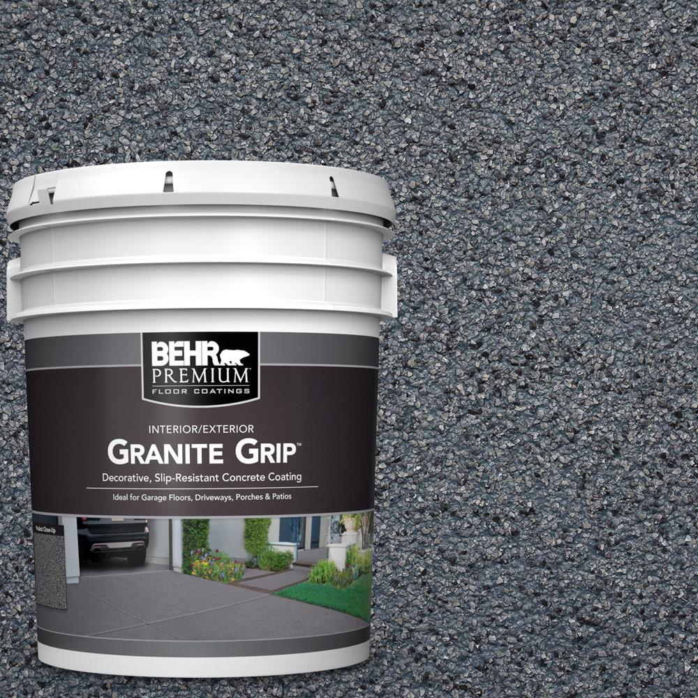 BEHR PREMIUM 5 Gal. #GG-05 Azul Diamond Decorative Flat Interior/Exterior Concrete Floor Coating