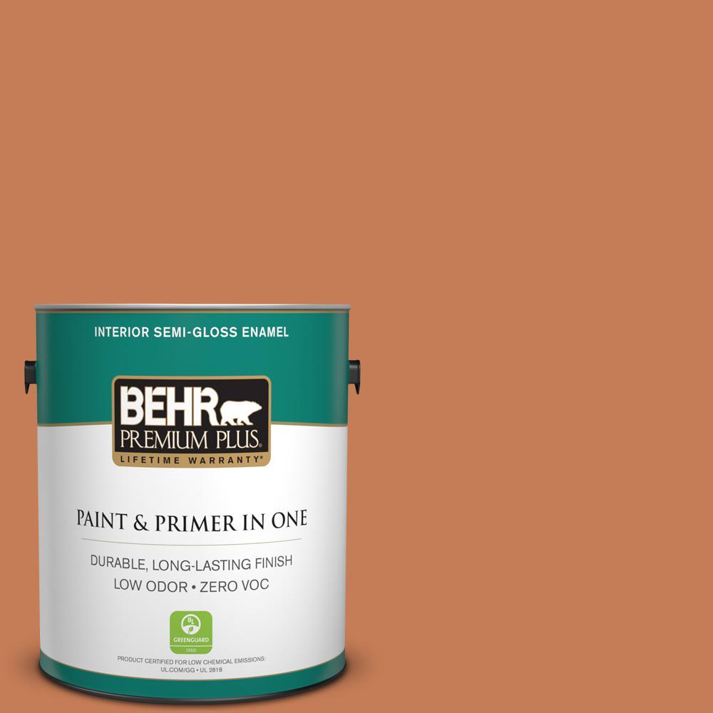 1-gal. #M210-6 Orange Liqueur Semi-Gloss Enamel Interior Paint