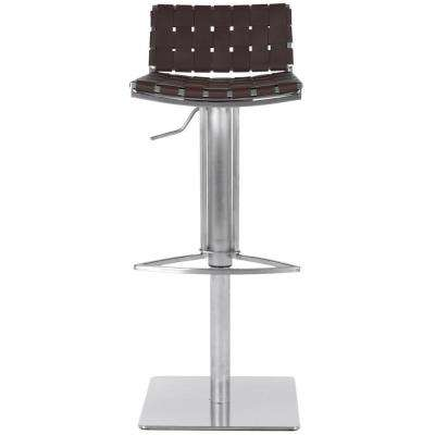 Mitchell Adjustable Height Stainless Steel Bar Stool