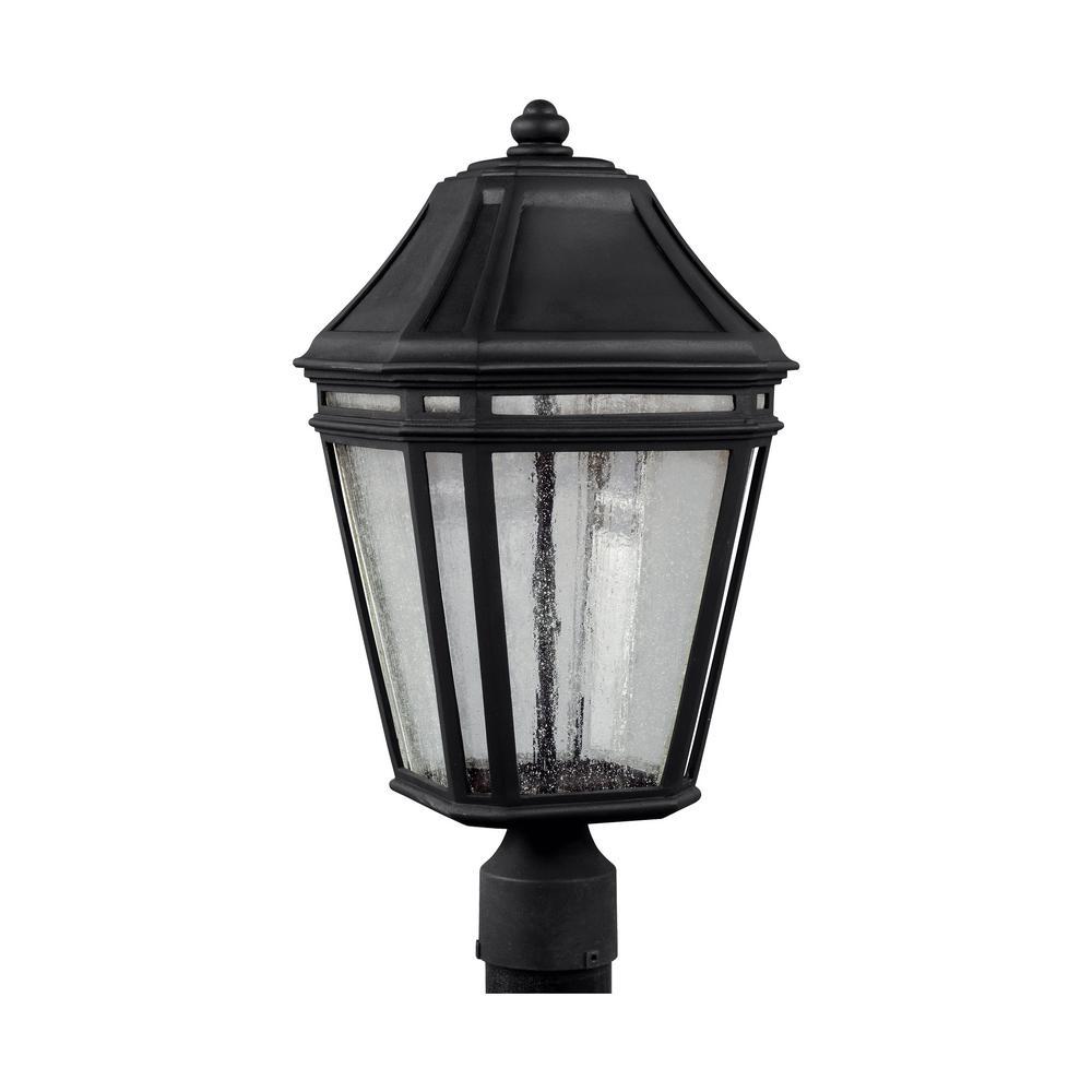 Londontowne Medium Black Integrated LED Post Light