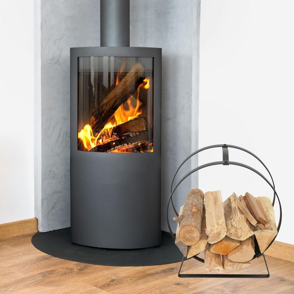 Enclume Handcrafted Indoor Outdoor Hoop Firewood Rack With Handle