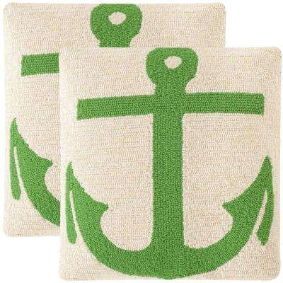 Ahoy Soleil Square Outdoor Throw Pillow (Pack of 2)