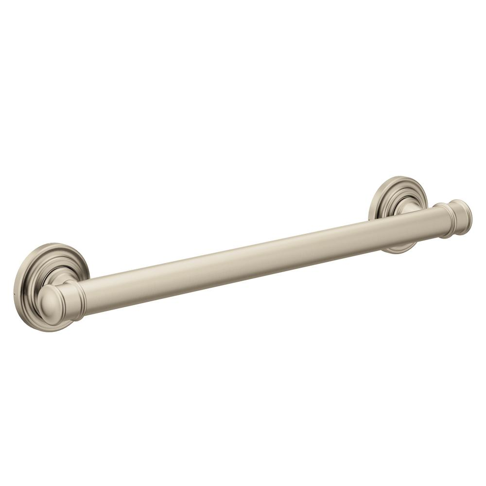Moen Belfield 24 In Concealed Screw Grab Bar In Brushed Nickel