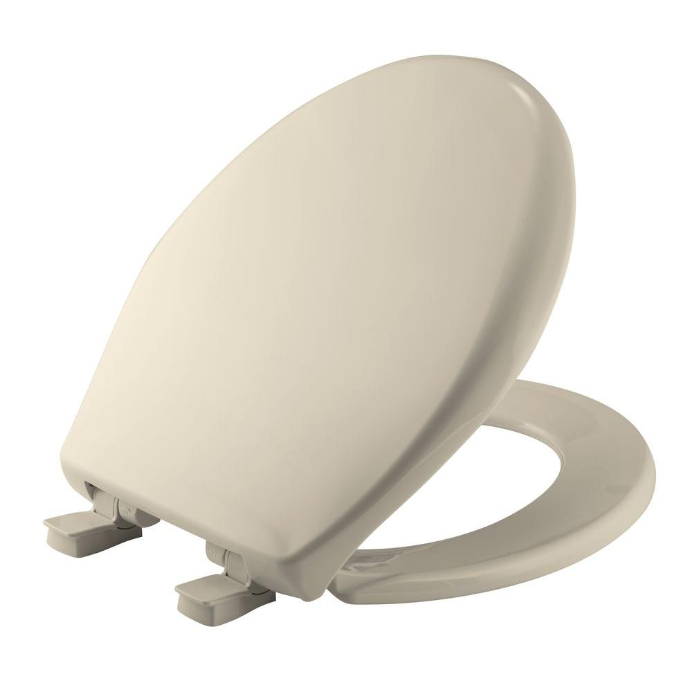 Bemis Affinity Round Closed Front Toilet Seat In Almond