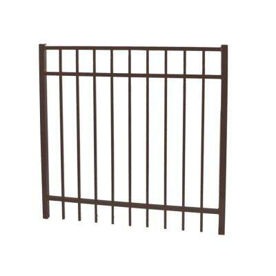 Vinnings 5 ft. W x 4 ft. H Bronze Aluminum Fence Gate