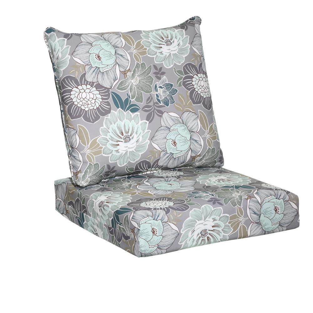 Superior Hampton Bay Charleston Floral 2 Piece Deep Seating Outdoor Lounge Chair  Cushion