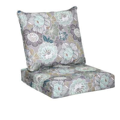 Marvelous 25 X 24 Outdoor Lounge Chair Cushion In Standard Charleston Floral