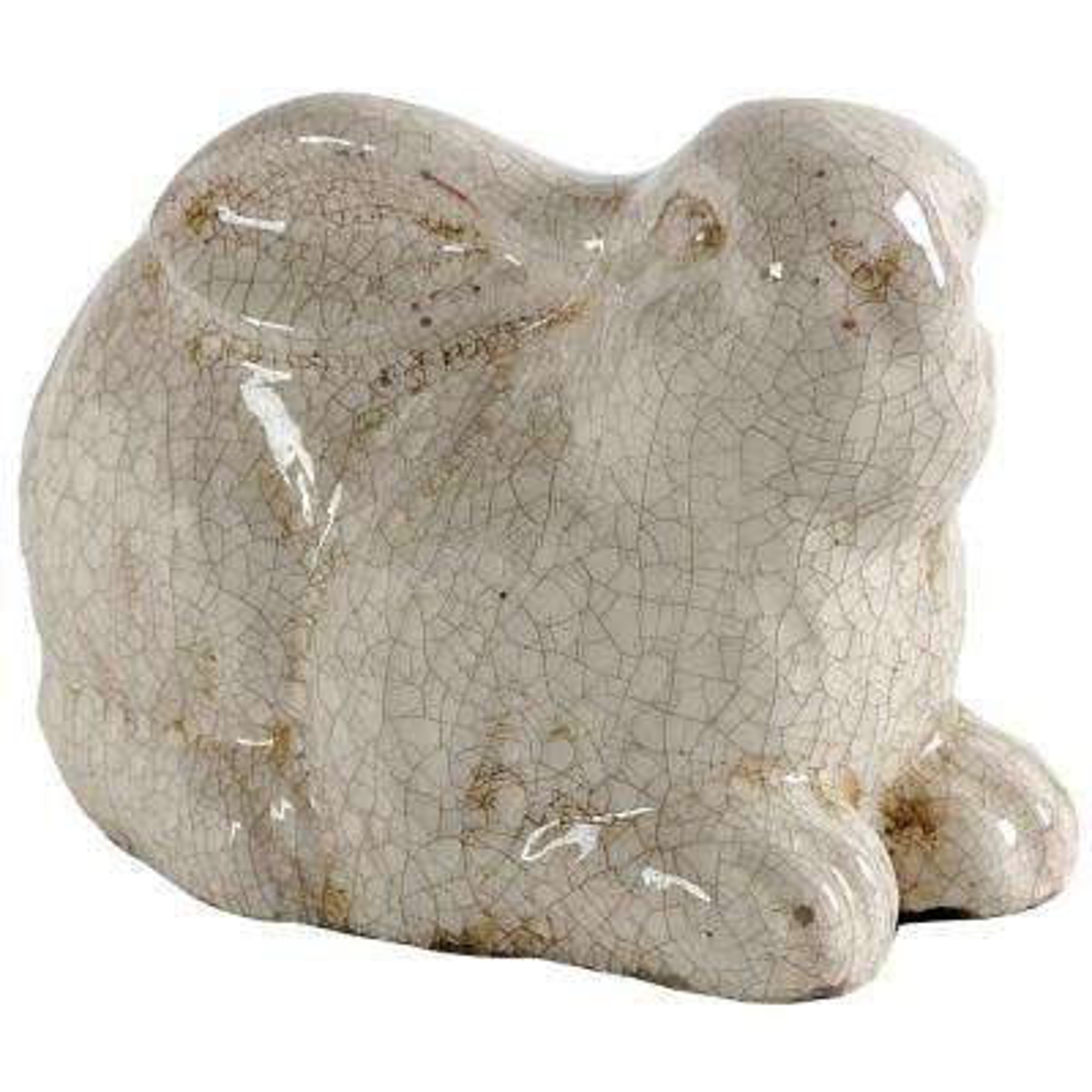 6.3 in. Cream Bailey Rabbit Accent