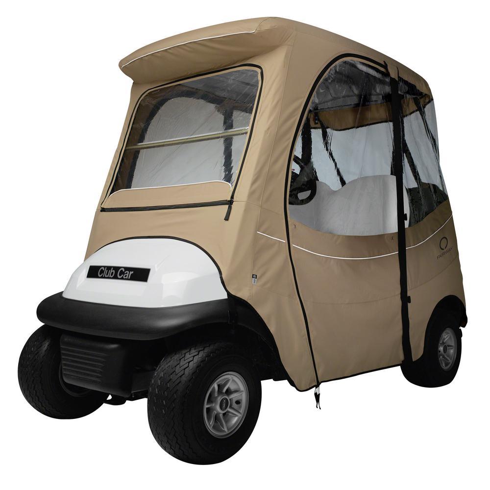 FadeSafe Club Car Precedent Short Roof Khaki Golf Car Enclosure