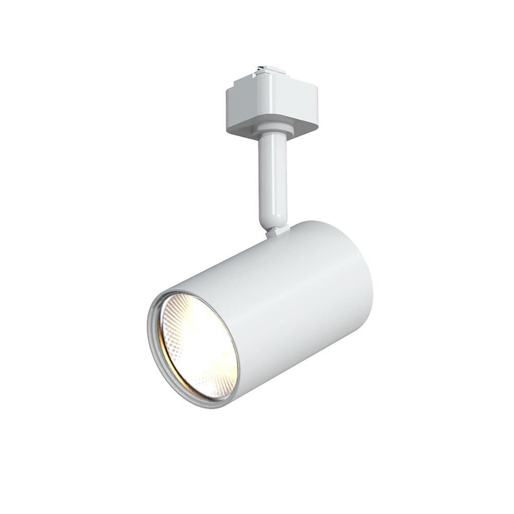 Hampton Bay White 1 Light Integrated Led Mini Cylinder Linear Track Lighting Head