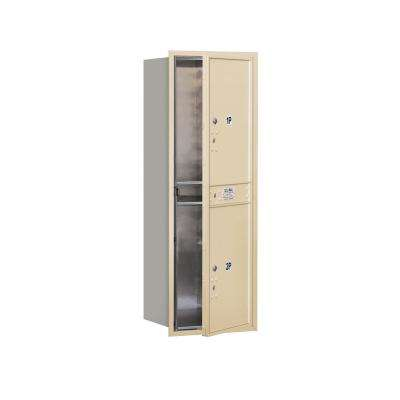 3700 Horizontal Series 2-Parcel Locker Recessed Mount Mailbox