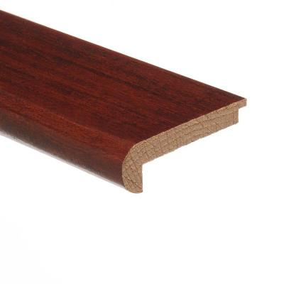 Santos Mahogany 3/8 in. Thick x 2-3/4 in. Wide x 94 in. Length Hardwood Stair Nose Molding Flush