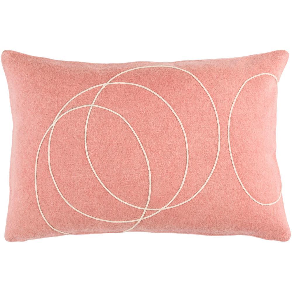 Bempton Purple Geometric Polyester 19 in. x 19 in. Throw Pillow