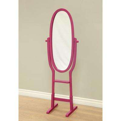 21-3/4 in. x 61-3/4 in. Mirror Stand in Purple