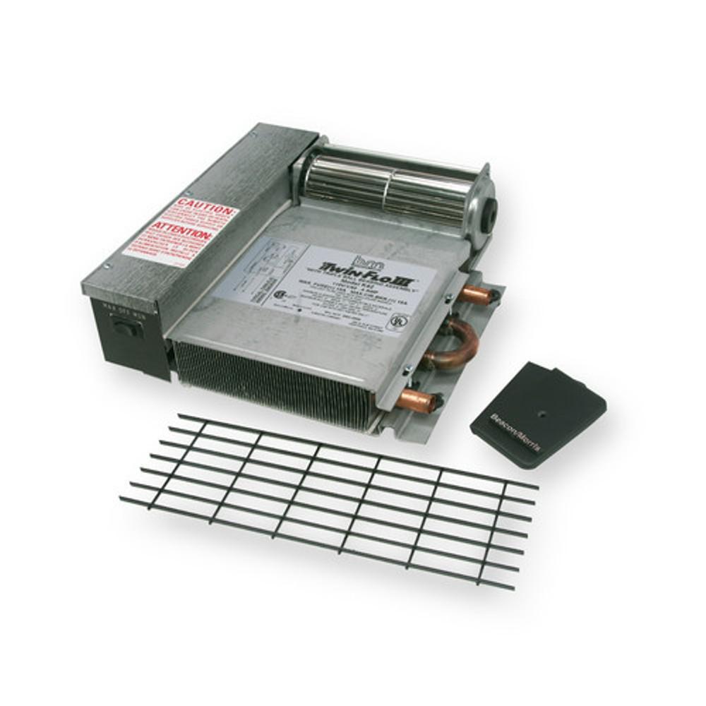 Hydronic Baseboard Heater 4200-BTU Kickspace 2-Speed Fan Switch Quiet Motor
