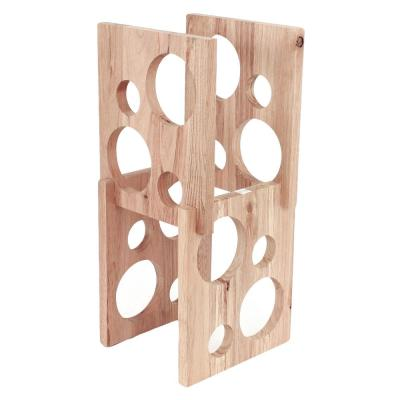 Astro 8-Bottle Brown Wood Wine Rack