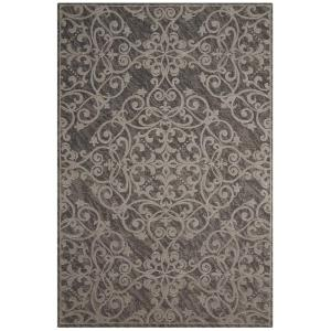 Nourison Damask Grey 2 ft. 3 inch x 3 ft. 9 inch Accent Rug by Nourison