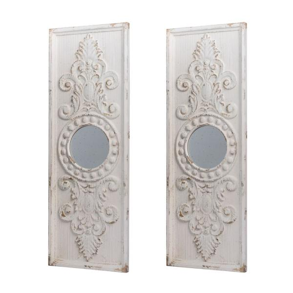 A B Home Southern Living French Country Antique Panel Wooden Wall Decor Set Of 2 43983 Ds The Home Depot