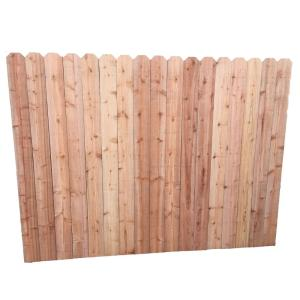 Mendocino Forest Products 6 ft. H x 8 ft. W Redwood ...