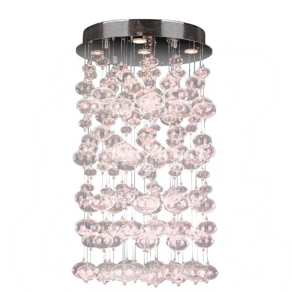 Worldwide Lighting Effervescence 7-Light Clear Bubble Blown Glass Ceiling Light by Worldwide Lighting