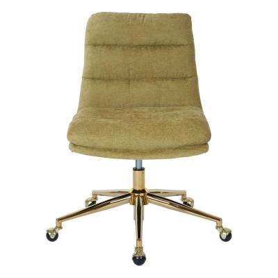 Legacy Olive Fabric with Gold Base Office Chair