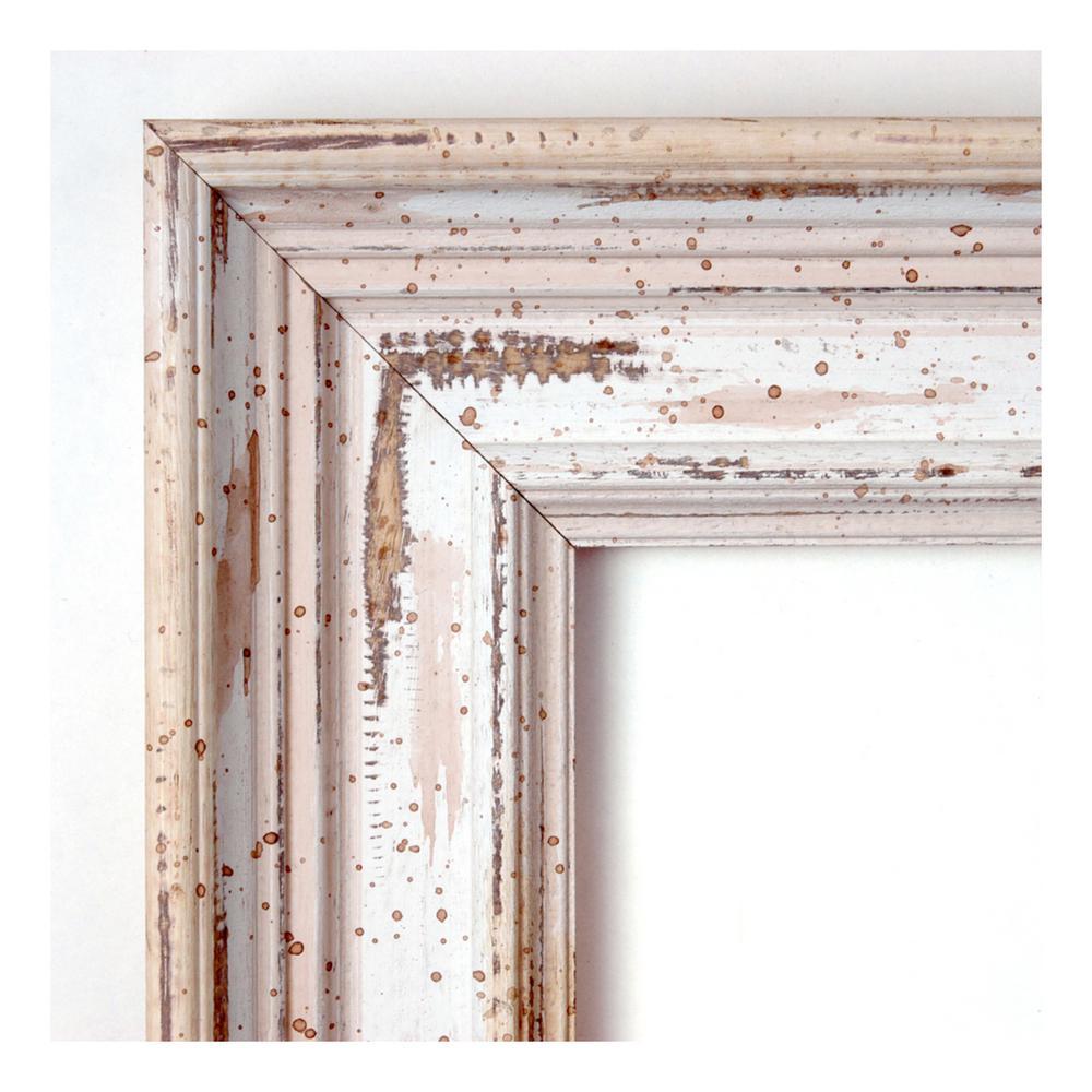 Amanti Art Alexandria White Wash Wood 41 In W X 29 In H