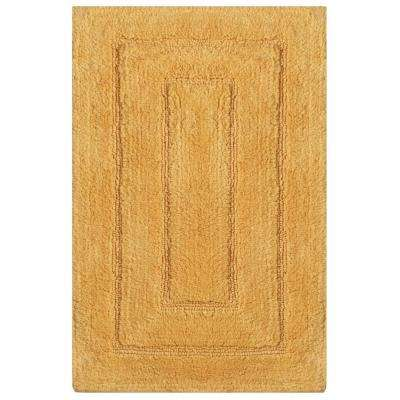 Newport Gold 20 in. x 32 in. Cotton Bath Rug