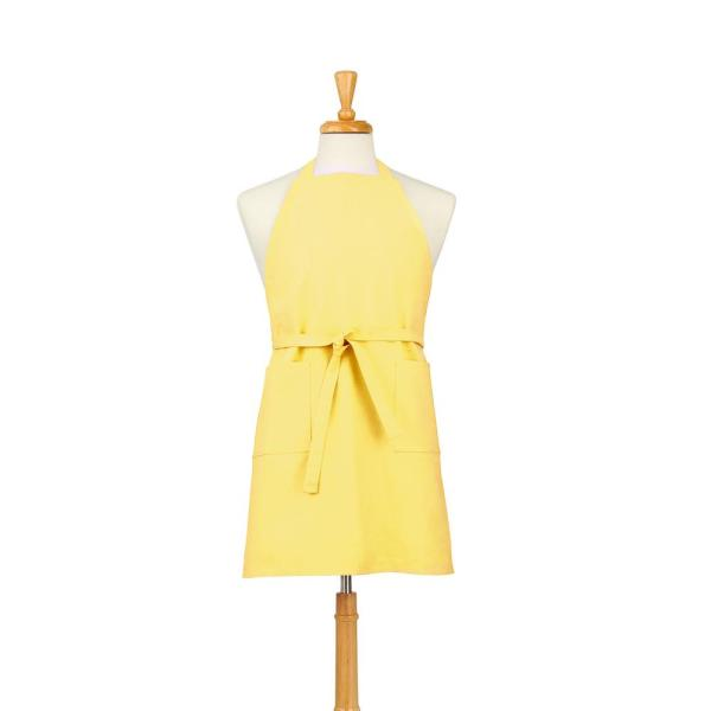 ASD Living Two Pocket Cotton Canvas Chef's Apron, Sun Yellow 01-419