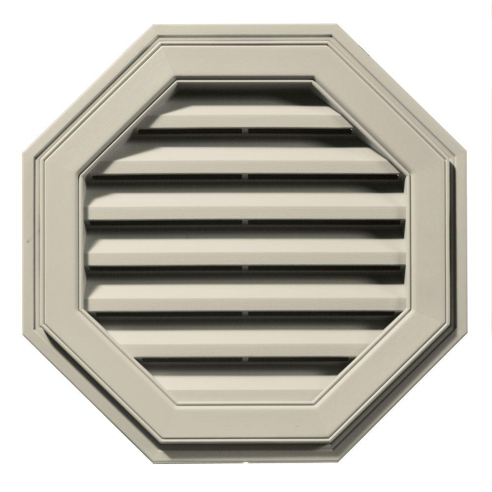 Builders Edge 22 in. Octagon Gable Vent in Champagne