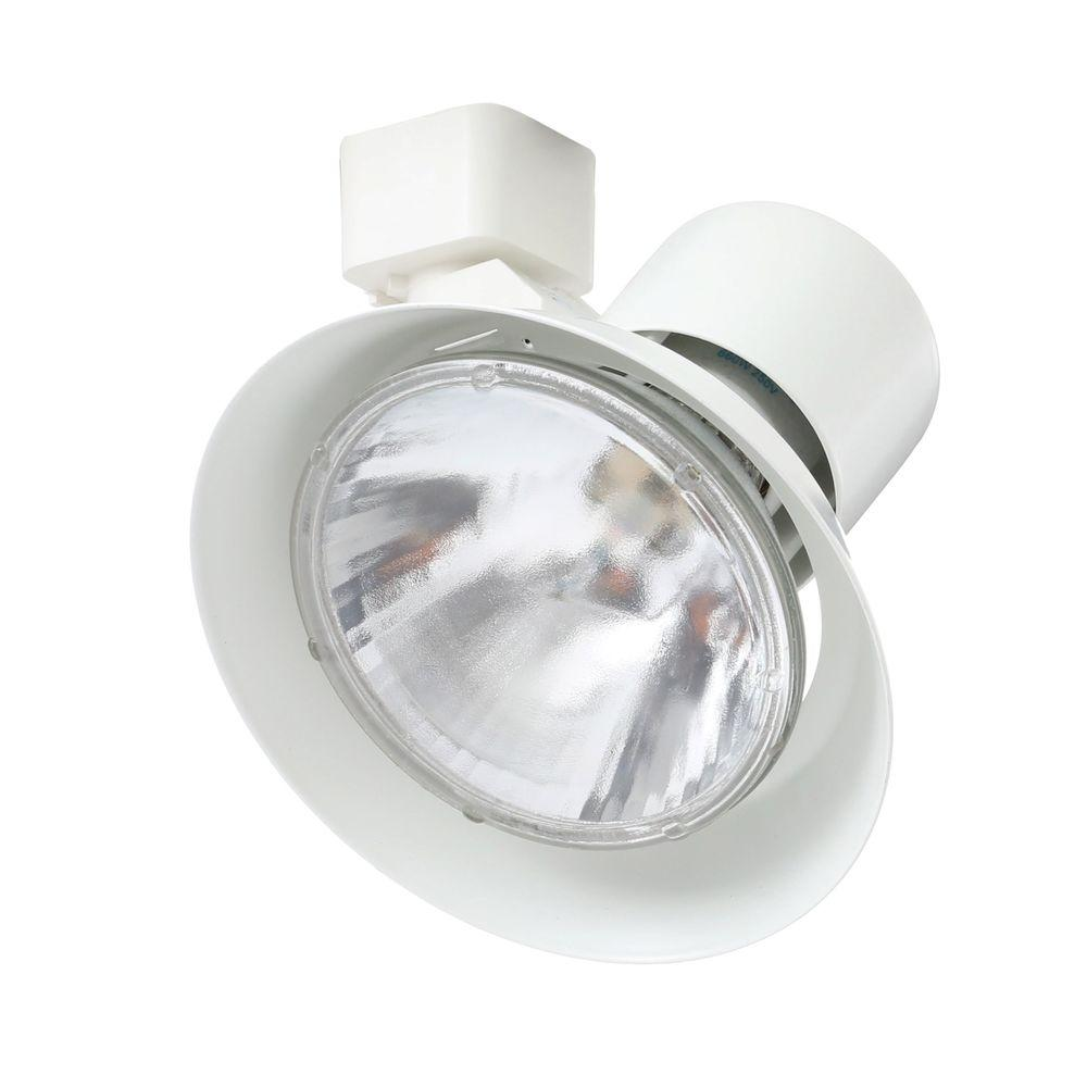 Juno Trac-Lites White Flared-Gimbal Light  sc 1 st  The Home Depot & Juno Trac-Lites White Flared-Gimbal Light-R532 WH - The Home Depot