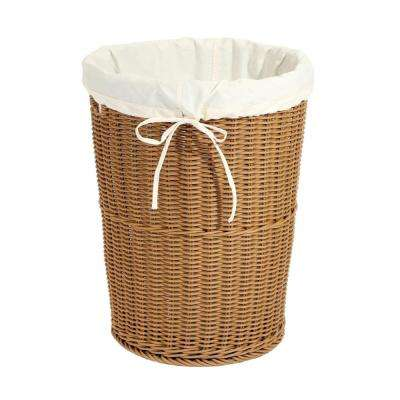 Wicker Weave Laundry Hamper Light Brown