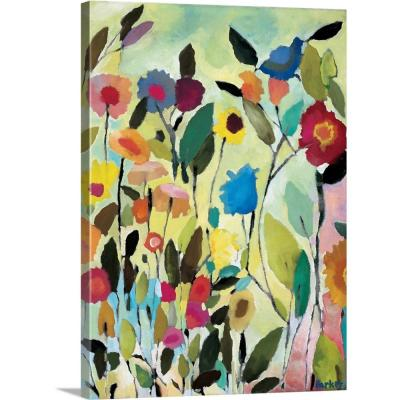 """""""Garden with Blue Tulip"""" by Kim Parker Canvas Wall Art"""