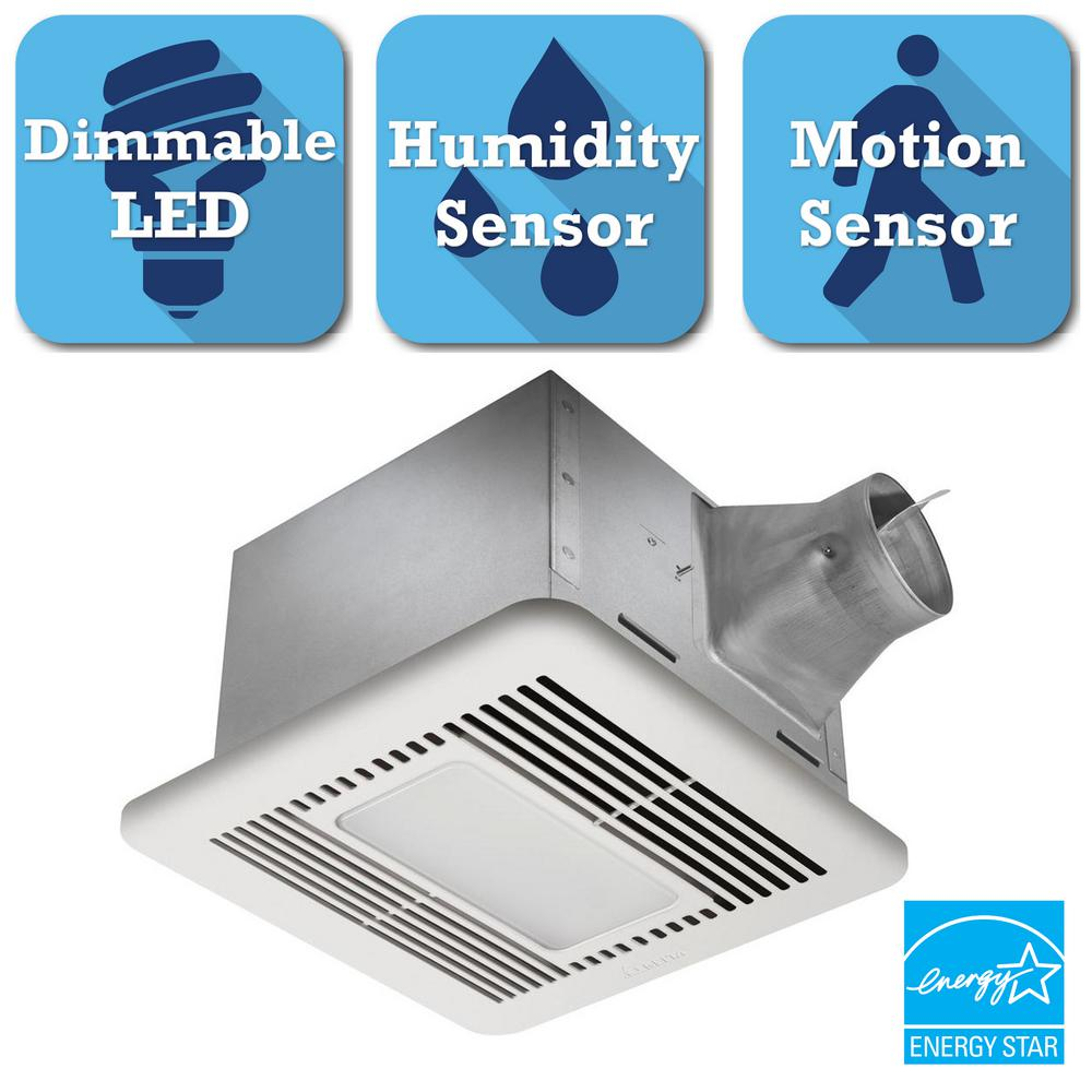 Delta Breez Signature Series 80 CFM Ceiling Bathroom Exhaust Fan with LED Light, ENERGY STAR