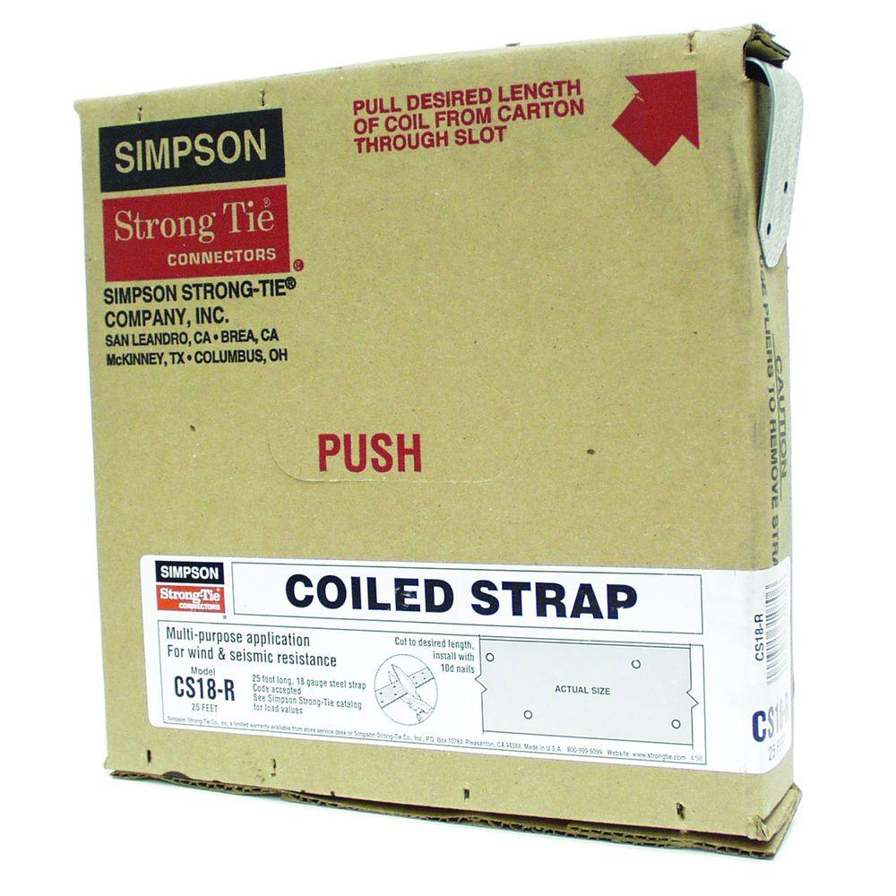 Simpson Strong-Tie 25 ft. 18-Gauge Coiled Strap