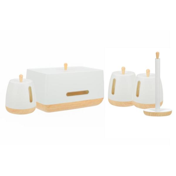 European Collection 5-Piece Plastic Canister Set