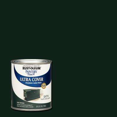 32 oz. Ultra Cover Satin Hunt Club Green General Purpose Paint (Case of 2)