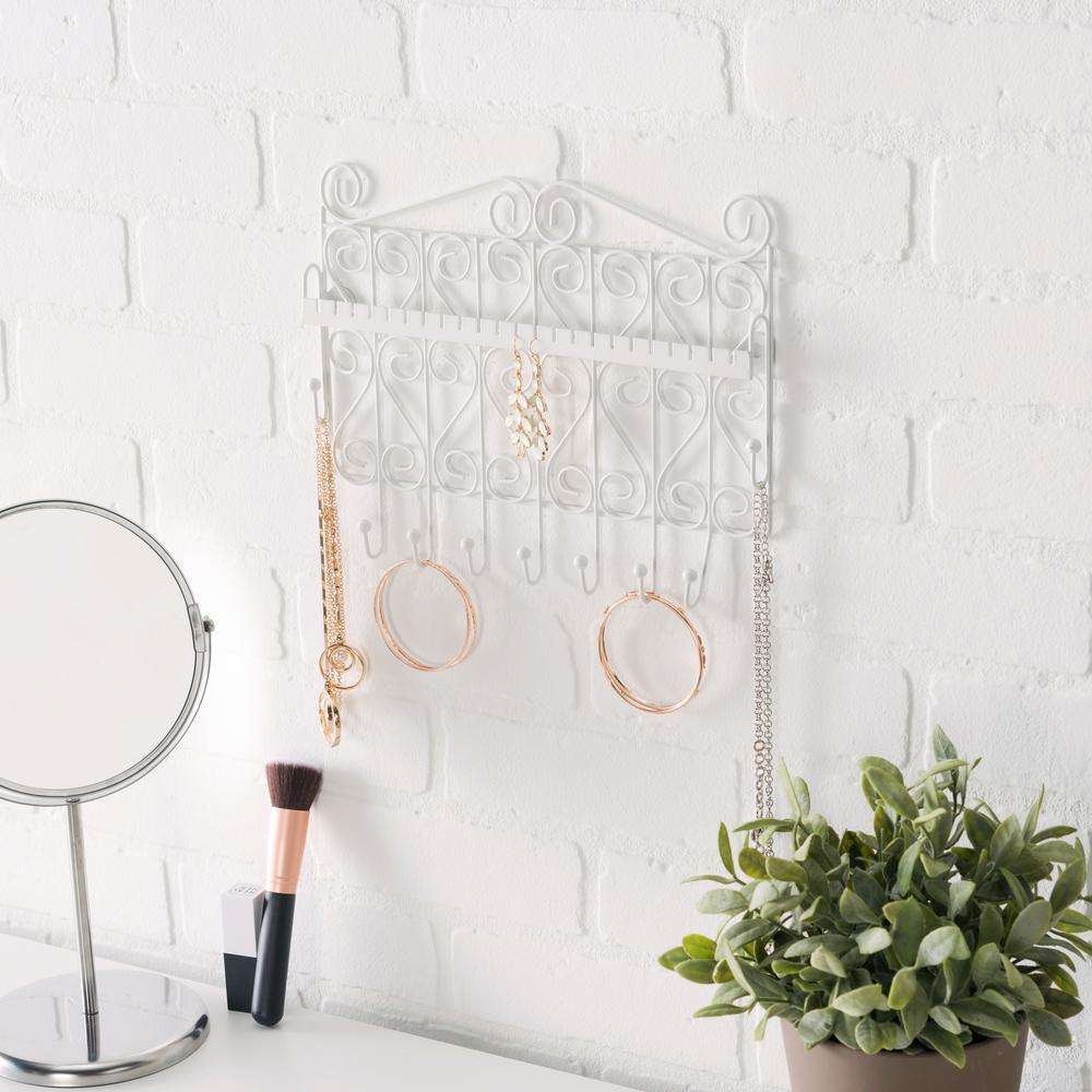 Home Basics 11.5 in. Jewelry Hanging Organizer