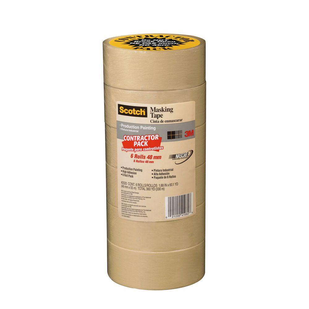 3M Scotch 1.88 in. x 60.1 yds. Painting Production Masking Tape (6-Pack)