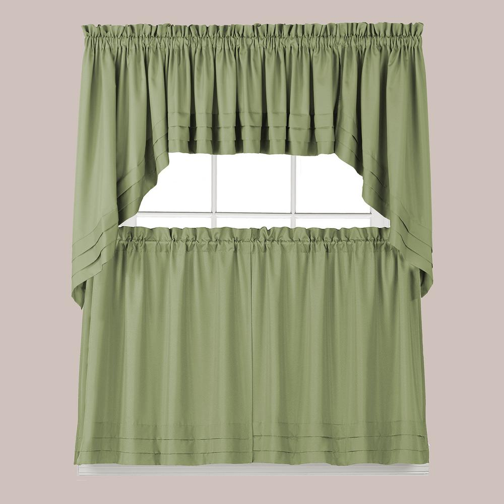 Kitchen Curtains And Valances: Saturday Knight Holden 30 In. L Polyester Swag Valance In