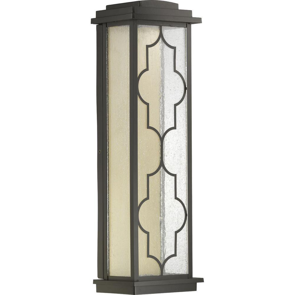Northampton 9-Watt Bronze 22 in. Outdoor Integrated LED Wall Mount Lantern