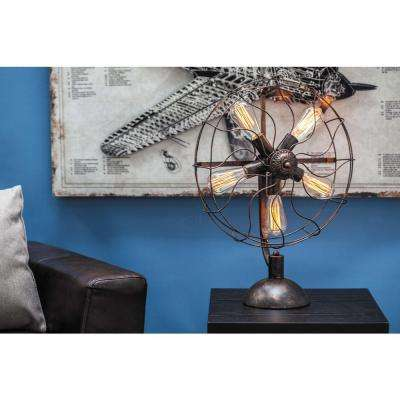 24 in. Contemporary Metal Fan Light with Bulb
