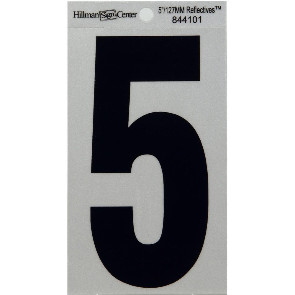 3 in. Vinyl Reflective Number 5