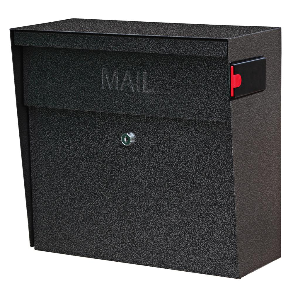 Metro Locking Wall-Mount Mailbox with High Security Patented Lock, Galaxy