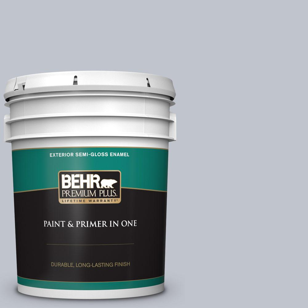 Behr Premium Plus 5 Gal N540 2 Glitter Color Semi Gloss Enamel Exterior Paint And Primer In One 505005 The Home Depot