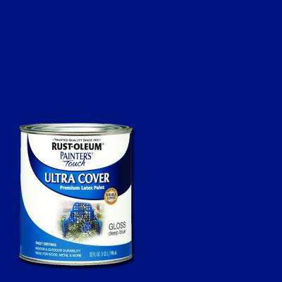 32 oz. Ultra Cover Gloss Deep Blue General Purpose Paint (Case of 2)